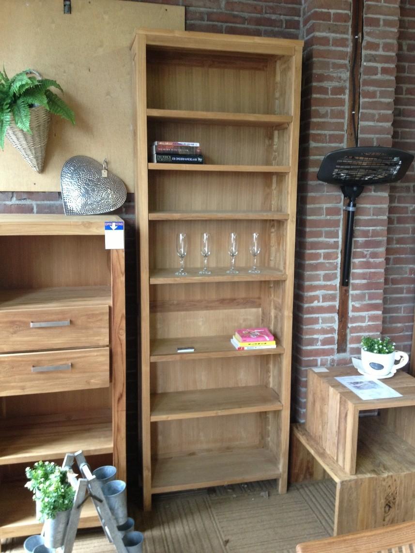 Super hoge boekenkast TEAK