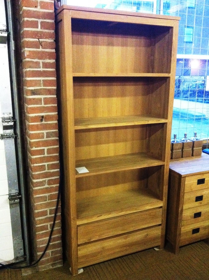 Boekenkast in 60 en 90 cm. breed  TEAK-1
